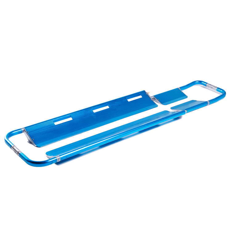 Aluminum alloy Scoop Stretcher can be foldaway with safety stretcher belt