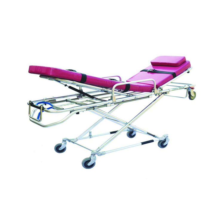 Hospital first aid Folding ambulance stretcher stainless steel for sale
