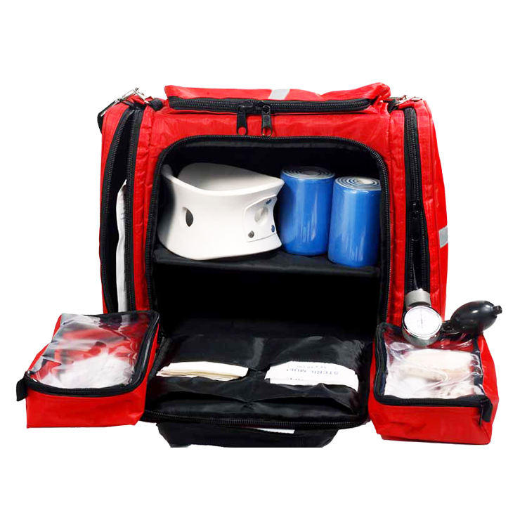 Large travel backpack first emergency first aid response bag
