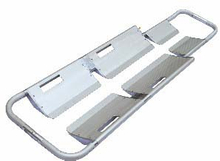 Aluminum tubular ambulance foldaway scoop stretcher