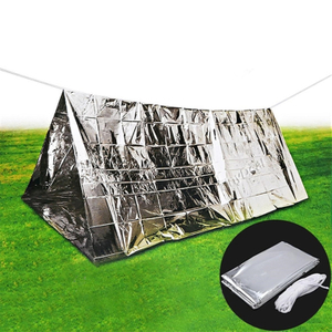 Camping made of mylar lightweight waterproof survival tent