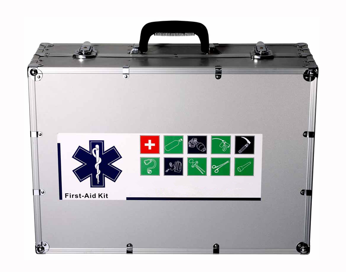 Wall mounted waterproof empty aluminum First Aid kit